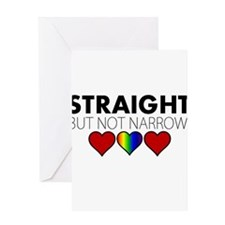 STRAIGHT but not narrow Greeting Card