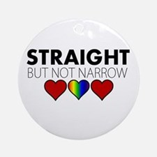 STRAIGHT but not narrow Ornament (Round)