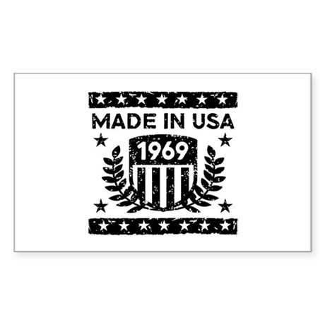 Made In USA 1969 Sticker (Rectangle)