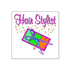 "TOP HAIR STYLIST Square Sticker 3"" x 3"""