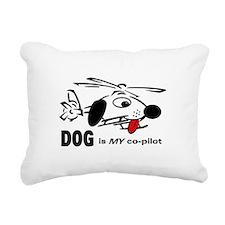 dogpilot.png Rectangular Canvas Pillow