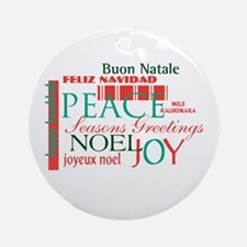 Multilingual Greeting Ornament (Round)