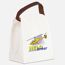 HeloDrivGr.png Canvas Lunch Bag