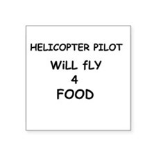 """flyforfood3.png Square Sticker 3"""" x 3"""""""