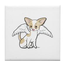 Norman Chihuahua Angel Tile Coaster