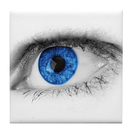 blue-eye art Tile Coaster