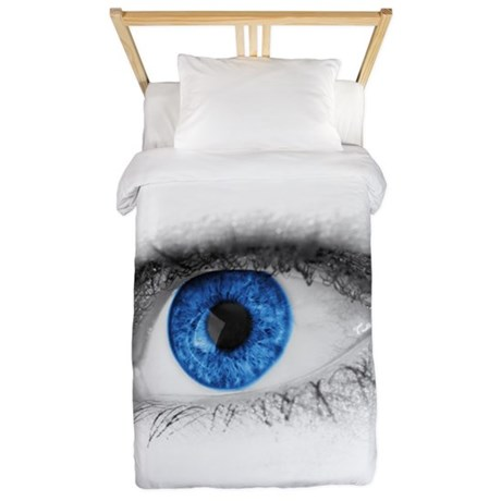 blue-eye art Twin Duvet
