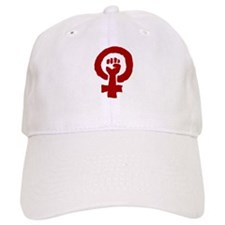 Red Feminist POWER! Baseball Cap