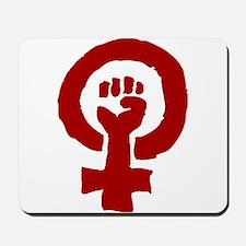 Red Feminist POWER! Mousepad