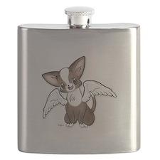 Precious Chihuahua Angel Flask