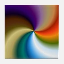 vivid-colored-spiral Tile Coaster