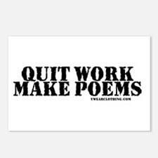Quit Work, Make Poems Postcards (Package of 8)