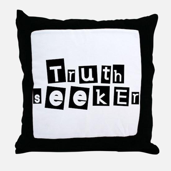 Truth Seeker Throw Pillow