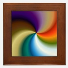 vivid-colored-spiral Framed Tile