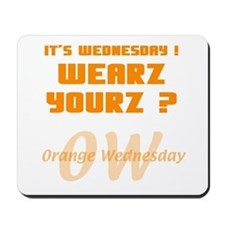 Orange Wednesday Mousepad