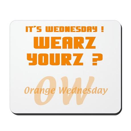 Orange Wednesday Mousepad