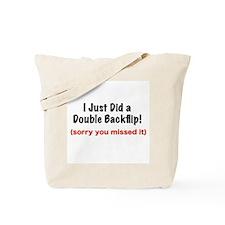 Double Backflip Tote Bag
