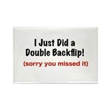 Double Backflip Rectangle Magnet