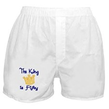 THE KING IS FIFTY Boxer Shorts