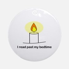 Reads Past Bedtime Ornament (Round)