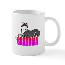 Black Siberian Husky Grandma Small Mug