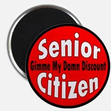 Senior Citizen Discount Magnet
