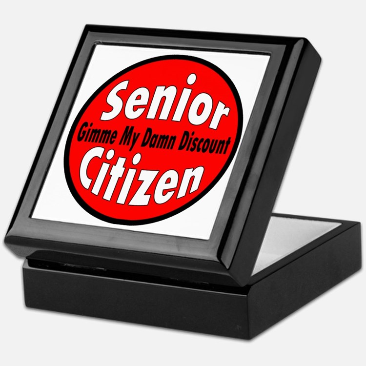 Senior Citizen Discount Keepsake Box