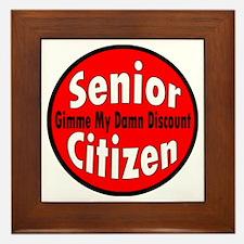Senior Citizen Discount Framed Tile