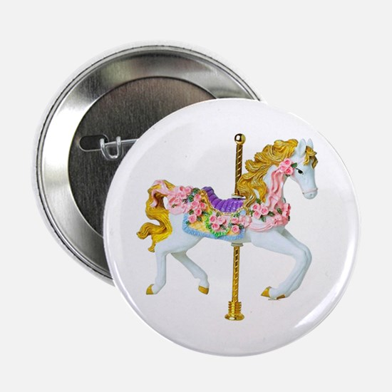 """Carousel Horse 2.25"""" Button (10 pack)"""