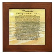 Desiderata Ocean Sunset Framed Tile