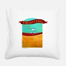 DRAFTING Square Canvas Pillow