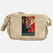 The Regal Weimaraner Messenger Bag