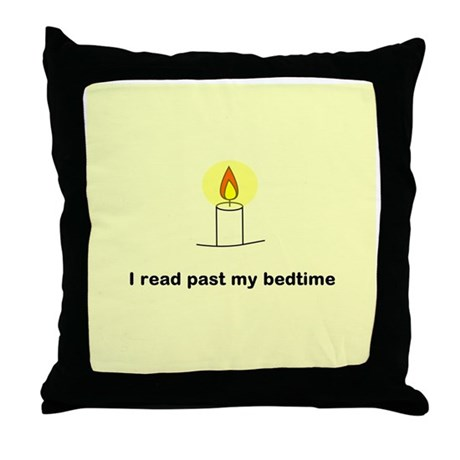 Read Past Bedtime Throw Pillow