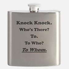 To Whom Knock Knock Joke Flask