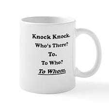 To Whom Knock Knock Joke Small Mug