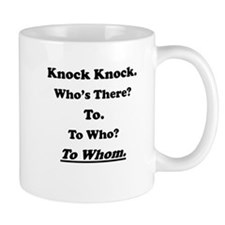 To Whom Knock Knock Joke Small Mug