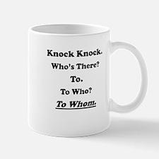 To Whom Knock Knock Joke Small Small Mugs