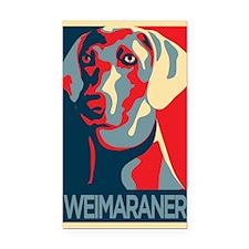 The Regal Weimaraner Rectangle Car Magnet