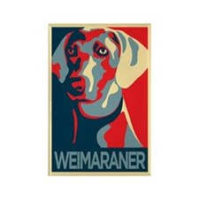 The Regal Weimaraner Rectangle Magnet
