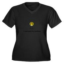 Read Past My Bedtime Plus Size T-Shirt