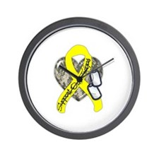 Support Our Troops Camo Style Wall Clock