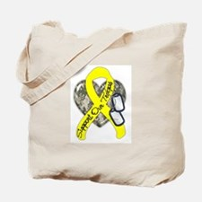 Support Our Troops Camo Style Tote Bag