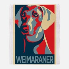 The Regal Weimaraner Throw Blanket