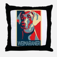 The Regal Weimaraner Throw Pillow