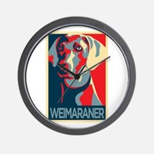 The Regal Weimaraner Wall Clock