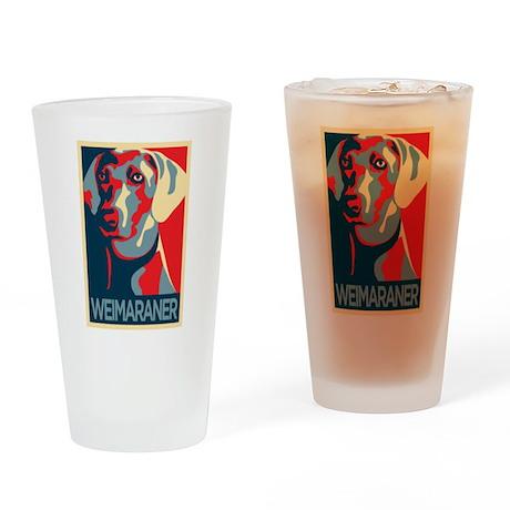 The Regal Weimaraner Drinking Glass