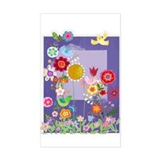 Shirley's Flowers Rectangle Decal