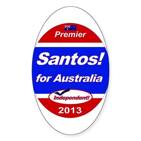 Santos for PM! Sticker (Oval)