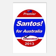 Santos for PM! Postcards (Package of 8)