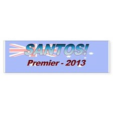 Santos for PM! Bumper Sticker